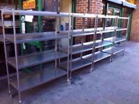 CATERING SHELVING RACKS STORAGE COMMERCIAL TAKEAWAY KITCHEN DINER RESTAURANT CAFE CANTEEN CAFETERIA