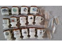 Bundle of 14 souvenir cups /toothpick holders if US states