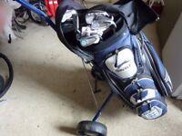Slazenger set of golf clubs with bag