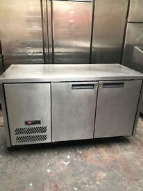 Williams commercial under counter bench fridge, two door fridge