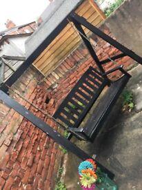 Garden furniture swinging bench