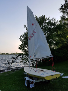 LASER Sailboat with TRAILER for sale.