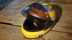 Full face helmet with tinted visor