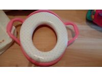Training toilet seat and potty