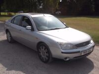 2000 FORD MONDEO 2.0 GHIA, LEATHER, MOT JULY 2018, ONLY £495