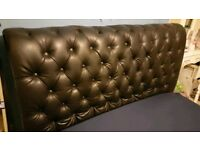Leather headboard Double bed
