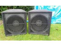 2 x Subwoofers - 15inch cones - max wattage 1000W each (per speaker)