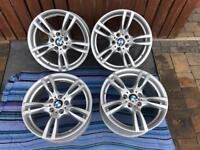 """Set of 4 genuine BMW 18"""" alloys from 2015 4 series (F30,F31,F32,F33,F36), mint condition"""
