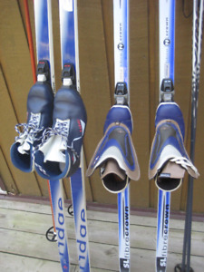Cross Country Skiis with Poles and Boots