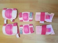 Girls Elbow, Knee Pads and wrist guards