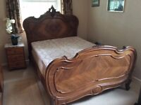 Louis XV Carved Wood Double Bed