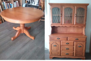 Dining Table with Buffet & Hutch