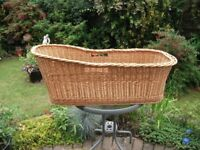 Large and Long Wicker Basket (previously used for baby)