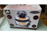 VisiCook CR3 TRX Halogen Oven with Extender Ring and Cool Surround Bowl, 12.0 L, 1300 W - Black