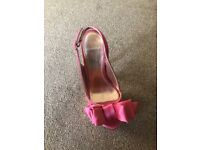 Carvella high heel satin sling backs