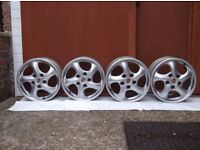 "Porsche Boxster Alloy Staggered Wheels 17 "" rims"