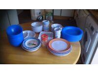 Large quantity Melamine and plastic picnicware