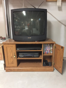 TV, Stand, VCR & DVD Player