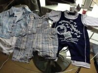 Boys 0-3 dungaree & body suit
