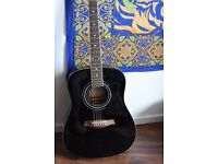 Black acoustic Ibanez guitar, model PF-15BK