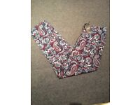 Next paisley trousers 8 BNWT