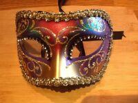 Hand painted Venetian half face mask