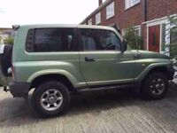 Daewoo Korando 4x4 jeep 4wd Parts engine not good other parts available axles gearbox