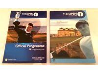 Open Golf Programmes 2005 & 2009