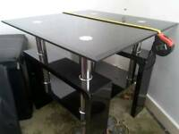 PARMABLACK GLASS LAMP TABLE