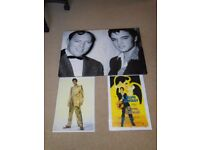 Elvis & Bill Haley Canvas & two posters.