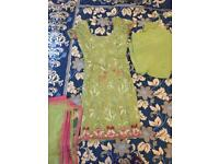 Patiala salwar suit used with heavy duppatta