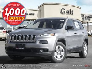 2016 Jeep Cherokee SPORT | X COMPANY DEMO | ONLY $141 BI-WEEKLY
