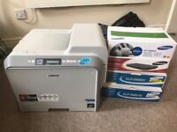 Samsung CLP-500 colour laser printer and 4 cartridges