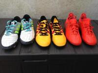 Adidas football boots x 3 pairs. Size 4