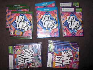 JUST DANCE Games for XBox One, XBox 360 and WiiU - NEW, Sealed