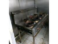 Chinese cooker commercial 7 burner