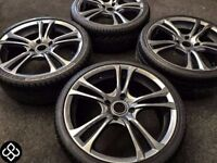 NEW 18'' ALLOY WHEELS WITH GREAT TYRES - 4 X 114 - GUNMETAL GREY - Wheel Smart