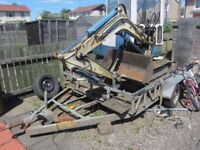 mini digger/trailer and tipper