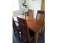 NEXT OAK DINING TABLE 4 CHAIRS CAN DLEIVER BARGAIN