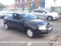 2003 (53 Reg) Fiat Stilo 1.2 16V ACTIVE 3DR Hatchback BLACK + LOW MILES