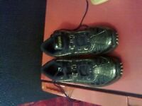 brand new ladies or girls sport spring boost trainers size 6 colour black with gold