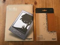 """Kindle 4 (Graphite), Wi-Fi, 6"""" Display, & Leather Case *Brand New*"""