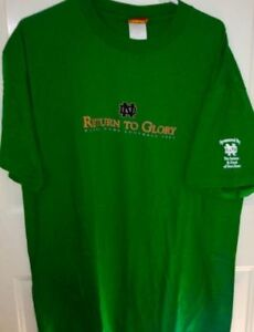 Notre Dame Return to Glory Tshirt Size XL