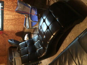 Wavy Faux Leather Chair