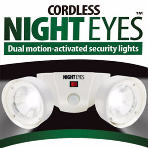 Cordless Night Eyes Dual Motion-Activated Security Lights