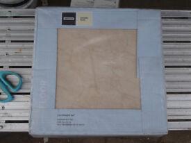 Ceramic Floor Tiles. Beige. Four Packs = 4 sq metres in all.