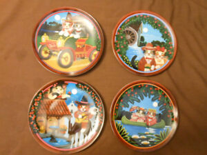 "Four plate collection called ""Uncle Tad's"" Golden Oldies."