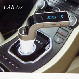 7 Bluetooth Car Kit Handsfree car FM Transmitter Radio MP3 Player USB Charger