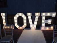 Marquee Light-up LOVE Letters FOR HIRE - £200