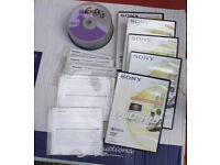 BLANK DVD rams, rewriteables and Cds.
